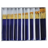 Golden Taklon Classroom Brush Set of 120