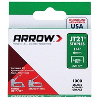 Arrow JT21 fine wire staples Box of 1000