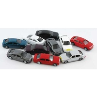Cars Coloured Scale 1:200 Pkt of 10