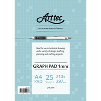 Graph Pad 1mm Grid 25 Sheets