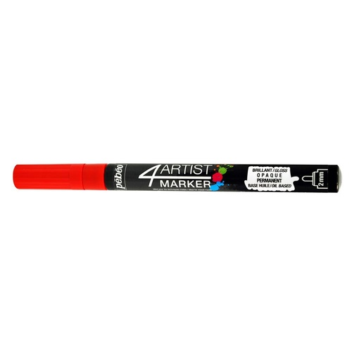 Pebeo 4 Artist Marker 2mm Red