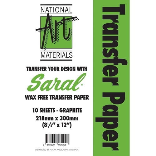 Saral Transfer Paper Sheets 305x205mm Pkt of 10